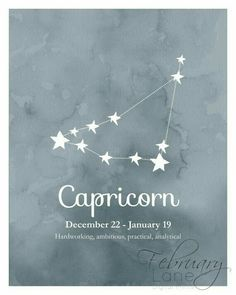 Capricorn constellation.
