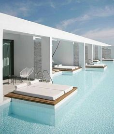 Wouldn't this be awesome for a house... pool access from every room!