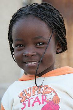 Niña de Botswana