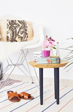 diy ikea chopping board side table | enthralling gumption