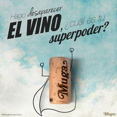 Yo hago desaparecer el #vino. ¿Cuál es tu #superpoder? :) #MugaLovers #Mugaexperience #BodegasMuga #winelover #quotes #winequotes #wine #Muga #winehumour #wineonmytime #wineoclock #wineinmoderation #larioja #Spain #quoteoftheday #wineislife #winetasting #winelove #vin Bodegas Muga, Sentences, Wine, Ale
