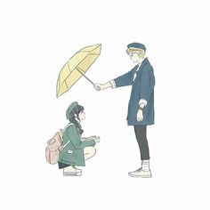 Find images and videos about art, couple and anime on We Heart It - the app to get lost in what you love. Cute Couple Drawings, Cute Couple Art, Anime Couples Drawings, Anime Love Couple, Cute Anime Couples, Cute Drawings, Cute Cartoon, Cartoon Art, Chibi