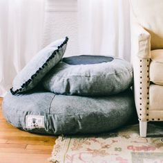 New Handmade Denim Dog Bed from See Scout Sleep - Dog Milk