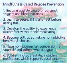 Read more about Michael Hoffman and Mindfulness-Based Relapse Prevention (MBRP) here: http://www.morningsiderecovery.com/blog/mindfulness-based-relapse-prevention/