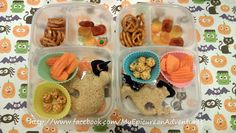 Halloween lunches easy enough for even kids to make - which they did! :)   @Kelly Lester / EasyLunchboxes  @Nature's Own