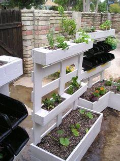 Une jardinière avec palette très déco! 9 idées   tutoriel…
