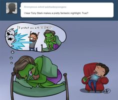 Fanart ask iron man tony stark The Avengers bruce banner The Hulk ask blog science bros askthederpvengers