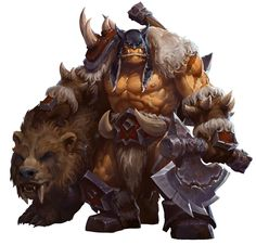 View an image titled 'Rexxar Art' in our Heroes of the Storm art gallery featuring official character designs, concept art, and promo pictures. World Of Warcraft Game, World Of Warcraft Characters, Fantasy Characters, Dota Warcraft, Warcraft Art, Heroes Of The Storm, Fantasy Races, Fantasy Warrior, Fantasy Character Design