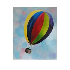 Brightly Painted Hot Air Balloon soaring by KatesBabyPaints, $150.00