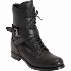 PRADA Wrap Around Strap Combat Boot $1,100 I love these boots and for Prada very affordable.