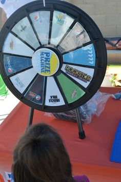 They had prize wheels, local radio stations and even a cash grab if you were lucky enough to spin the wheel and land on the classic Pepsi picture! Buy this Prize Wheel at http://PrizeWheel.com/products/tabletop-prize-wheels/mini-clicker-prize-wheel/.