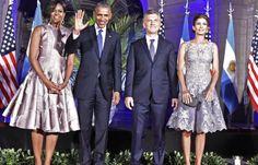 En la cena de gala, Obama y Macri mostraron buena sintonía