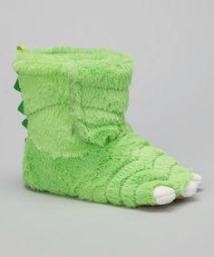 Green Monster Sasha Slipper on #zulily! #zulilyfinds