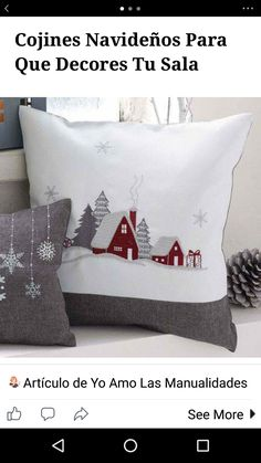 Love the snowflake pillow, too!