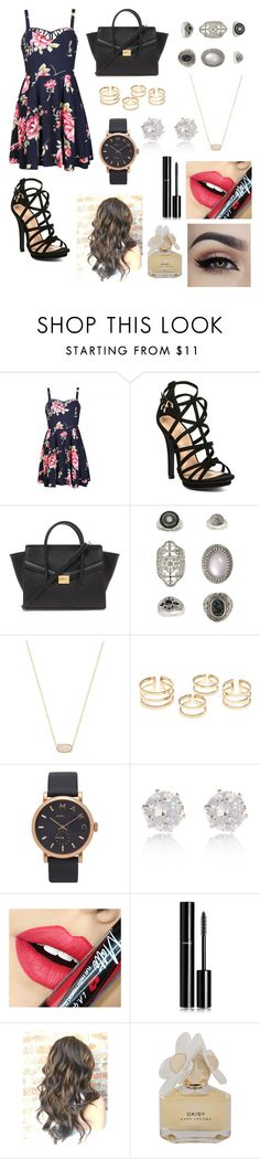 """""""Untitled #85"""" by zannaferdous ❤ liked on Polyvore featuring Ally Fashion, Forever 21, Topshop, Kendra Scott, Marc by Marc Jacobs, River Island, Fiebiger and Chanel"""