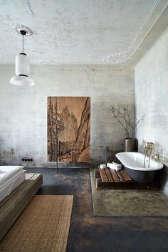 The Emerald - RicharDavidArchitekti Wabi Sabi, Japanese Interior Design, Japanese Home Decor, Japanese Living Room Decor, Japan Interior, Marocco Interior, Casa Wabi, Zen Style, Bathroom Styling