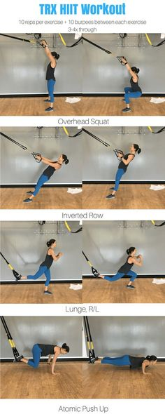 Full body TRX HIIT workout for women. TRX workout for…