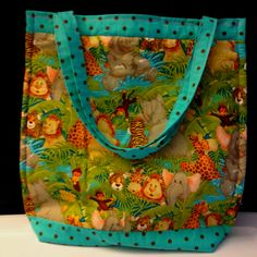Back of Zoo Animal Tote