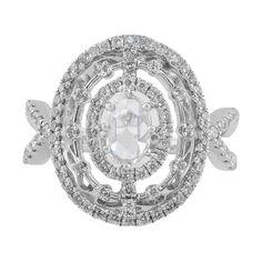 Estate Split Shank Oval Diamond Ring