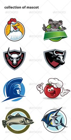 Collection of mascot   #GraphicRiver         collection of vector mascot ( each mascot in separate jpg file )     Created: 9November11 GraphicsFilesIncluded: TransparentPNG #JPGImage #VectorEPS #AIIllustrator Layered: No MinimumAdobeCSVersion: CS Tags: buffalo #chicken #cow #farm #fish #fruit #funky.panda #logo #mad #marlin #mascot #spartan #sport #tomato #vector