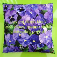 """Cushion """"Violets"""", from the Nature Collection...more at http://inekeottejewelry.com/"""