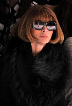 Editor-in-Chief of Vogue, Anna Wintour attends the Vera Wang Fall 2012 fashion show during Mercedes-Benz Fashion at The Stage at Lincoln Center on February 14, 2012 in New York City.  Sip With Socialites  http://sipwithsocialites.com/