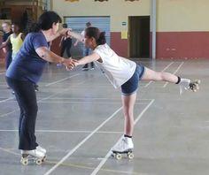 Rollerskating lessons!