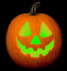 Put glowsticks in a jack-o-lantern to create a colored light! Great for haunted houses, and decoration at parties!