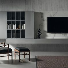 LANDSCAPE - Designer Wall storage systems from Acerbis ✓ all information ✓ high-resolution images ✓ CADs ✓ catalogues ✓ contact information. Wall Storage Systems, Lp Storage, Record Storage, Home Office Design, Modern House Design, Living Room Modern, Living Room Interior, Interior Concept, Interior Design