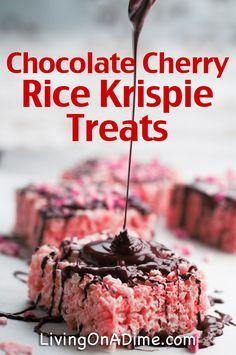 Chocolate Covered Cherry Rice Krispie Treats Recipe