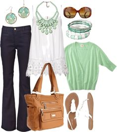 mint tea, created by htotheb on Polyvore