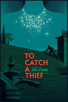 """Dark Hall Mansion will release a brand new poster by Laurent Durieux this week. His new one for To Catch a Thief is a 24"""" x 36"""" screenprint, has an edition of 3"""