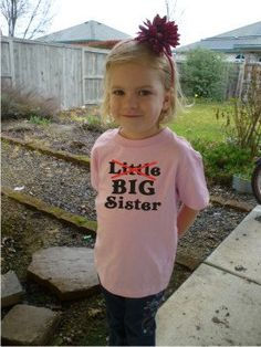 Little No Big Sister girls shirt Custom Design by OodlesDecals, $14.00