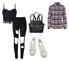 """""""It was so easy that night"""" by palefiction ❤ liked on Polyvore featuring WithChic, Lipsy, adidas, Givenchy and Penfield"""
