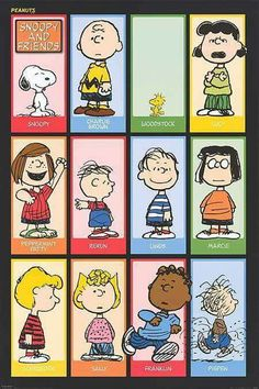 Charlie Brown and the Peanuts Gang, Poster, illustration. Meu Amigo Charlie Brown, Charlie Brown Snoopy, Charlie Brown Christmas, Snoopy Love, Snoopy And Woodstock, Charlie Brown Characters, Peanuts Characters, Peanuts Snoopy, The Peanuts