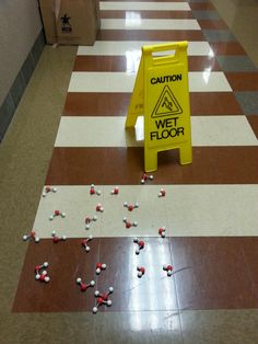 """Caution wet floor"" prank from the Manchester University Chemistry Department. #OnlyManchester I would so do this!!!!!"