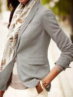 Cashmere + blazer = perfectly understated elegance.