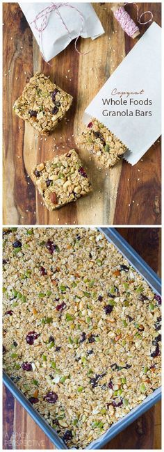 Copycat Whole Foods Chewy Granola Bars! – Mother Rimmy's Light and Healthy Recipes Copycat Whole Foods Chewy Granola Bars! Hello everyone, Today, we have shown Mother Rimmy's Light and Healthy Recipes Copycat Whole Foods Chewy Granola Bars! Healthy Granola Bars, Chewy Granola Bars, Healthy Bars, Healthy Recipes, Healthy Baking, Whole Food Recipes, Healthy Snacks, Cooking Recipes, Whole Foods Granola Recipe