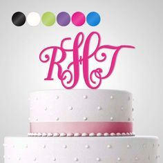 Cake Topper Tortendekoration Acryl 'Royal' personalisiert mit Monogrammen