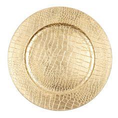 Snake Gold Christmas Plate Charger - Dinnerware - Tableware - United Kingdom