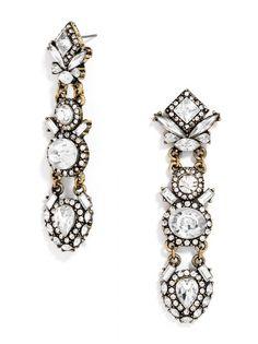 Elara Drops | We love how these are a unique shape! #baublebar #swatstyle #earrings #statement
