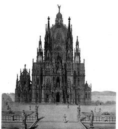 Elevation of a design for the Jubiläumskirche, Vienna