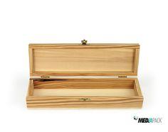 Estojo de madeira com fecho dourado. http://loja.mediapack.com/pt/estojo-de-madeira/