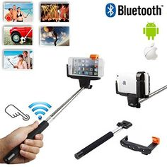 Nice Extendable SELFIE Stick with INTEGRATED Bluetooth Remote Button and Universal Phone Holder Suitable for LG G Flex  Pro 2  Pro Lite  LG Optimus G Pro  G Vista Smartphone  Fully Adjustable Handheld Monopod 11  40  Light Compact and Easy to Carry With Y... 2017-2018