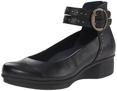 Dansko Women's Lois Flat, Black Nappa, 41 EU/10.5-11 M US *** More info could be found at the image url.