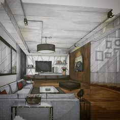 Living Area for Mr.T's Private House in Bkk. #sketch #handdrawing #perspective #interior #design #interiordesign #interiorsketch #living #arquitetapage #arquisemteta #architecture #archsketcher #papodearquiteto #art #archihub #arch_more #arch_cad #archilovers #arch_sketcher #arch_sketch #ar_sketch #flarchitect #bestsketch #interiorstudent #mastersketch #tamainteriordesign #tamasketch