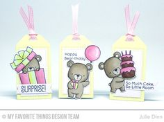 Beary Special Birthday Tags