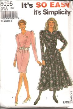 Check out this item in my Etsy shop https://www.etsy.com/listing/114671980/1990s-vintage-sewing-pattern-1980s-dress