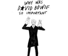 The Influence of David Bowie, Illustrated