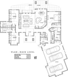 Craftsman Style House Plan - 3 Beds 4.5 Baths 2536 Sq/Ft Plan #892-11 Floor Plan - Main Floor Plan - Houseplans.com